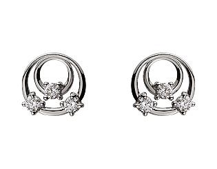 Золоті сережки з діамантами 01-17497168 фотографія