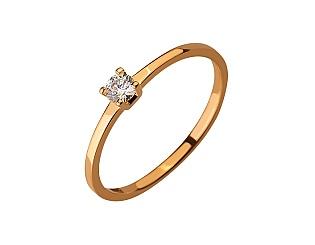 Золота каблучка з діамантом 01-17599268 фотографія
