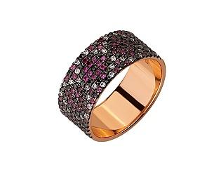 Золота каблучка з цирконієм куб. 01-17656468 фотографія