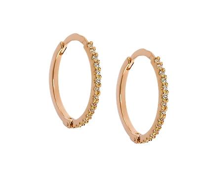 Золоті сережки з цирконіями 1-с-481 фотографія