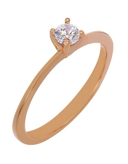 Золотое кольцо с фианитом 1б_к-053 фотография