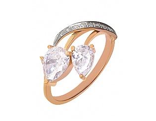 Золотое кольцо с фианитами 4б_к-044 фотография
