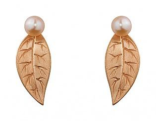 Золоті сережки з перлинами 1с-156 фотографія