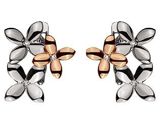 Золоті сережки з діамантами 4б_с-117 фотографія
