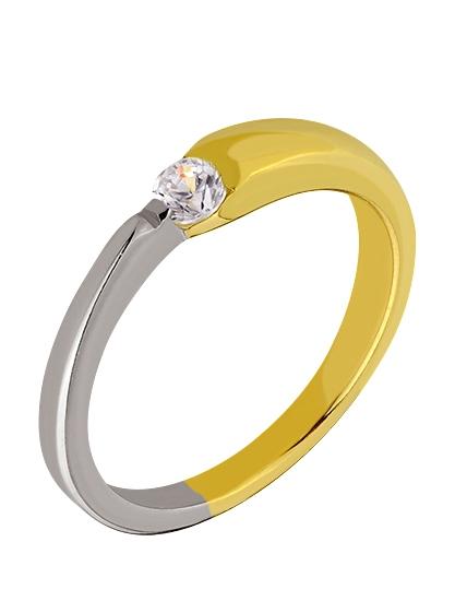 """Золотое кольцо 585 пробы с фианитом (01-15837169) """"Ювелирная карта"""""""
