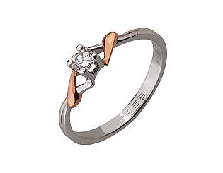 Золота каблучка з діамантом 01-17522569 фотографія