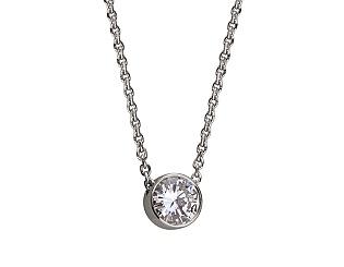 Золотое колье с бриллиантами 01-17648369 фотография
