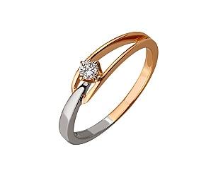 Золота каблучка з діамантом 01-17656469 фотографія