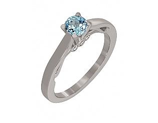 Золотое кольцо с топазом и фианитом 2к-254 фотография