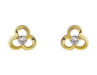 Золоті сережки з діамантами 3б_с-076 фотографія