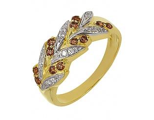 Золотое кольцо с фианитами 5-к-1423 фотография