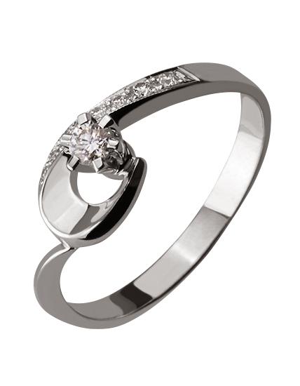 """Золотое кольцо 585 пробы с бриллиантами (01-16654470) """"Ювелирная карта"""""""