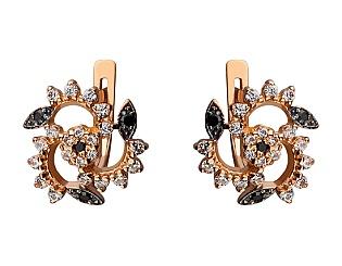 Золоті сережки з фіанітами 01-17274570 фотографія