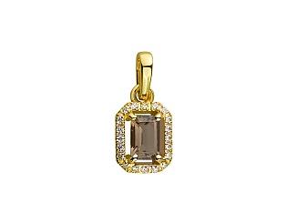 Золотий кулон з кварцом 01-17497170 фотографія