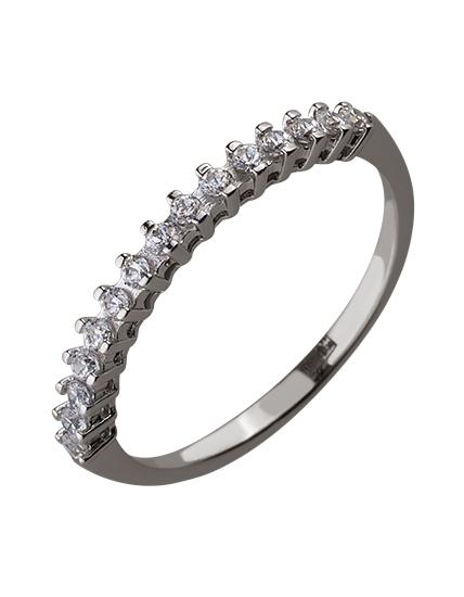 Золотое  кольцо с цирконием куб. 01-17586570 фотография 1
