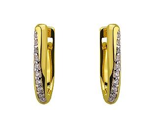 Золоті сережки з фіанітом 9с-158 фотографія