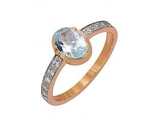 Золотое кольцо с топазами и фианитами 8к-241 фотография