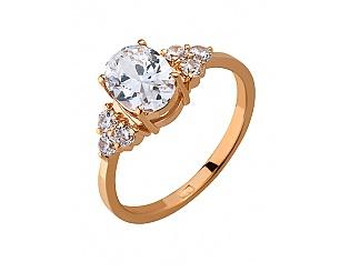 Золотое кольцо с фианитами 1б_к-030 фотография