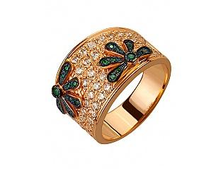 Золотое кольцо с фианитами 1б_к-036 фотография