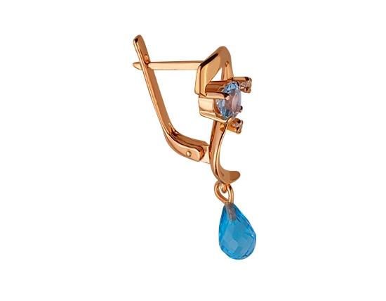 Золоті сережки з топазами 01-17445871 фотографія