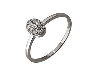 Золота каблучка з діамантами 01-17511071 фотографія