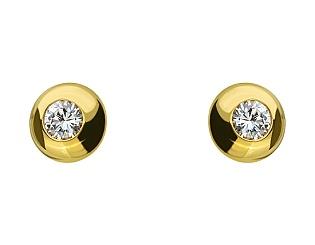 Золоті сережки з діамантом 01-17548071 фотографія