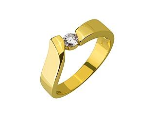 Золота каблучка з діамантом 01-17635571 фотографія