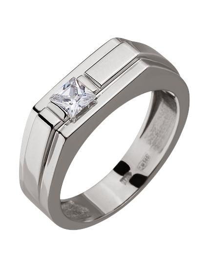 Золотой перстень 585 пробы с фианитом (15-000080072)