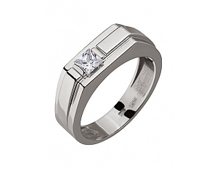 Золотое кольцо с фианитами 2б_к-113 фотография