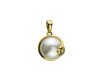 Золотий кулон з діамантом 01-17463572 фотографія