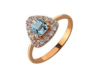 Золотое кольцо с топазом 01-17497172 фотография