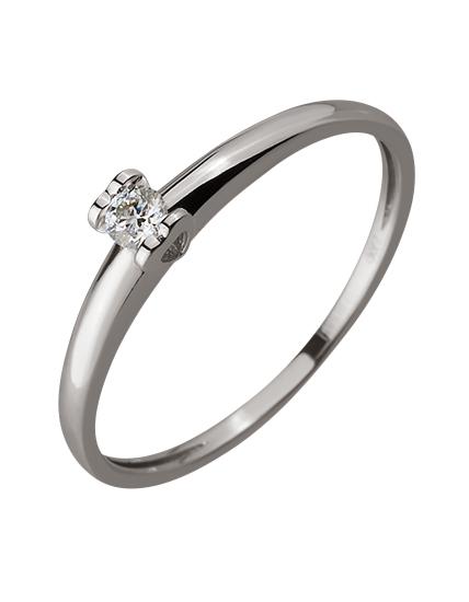 Золотое кольцо с бриллиантом 01-17578972 фотография 1