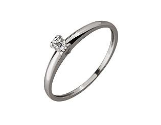 Золотое кольцо с бриллиантом 01-17676119 фотография