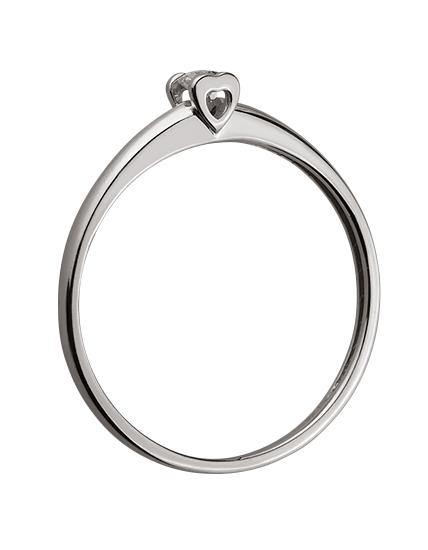 Золотое кольцо с бриллиантом 01-17578972 фотография 2