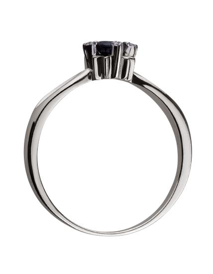 Золотое кольцо с бриллиантом и корундом 01-17586572 фотография 2