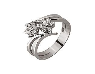 Золота каблучка з діамантами 01-17620872 фотографія