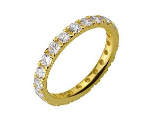 Золота каблучка з діамантами 3б_к-195 фотографія