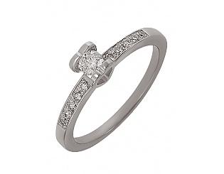 Золотое кольцо с бриллиантами 2б_к-027 фотография
