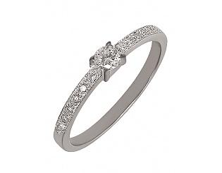 Золотое кольцо с бриллиантами 2б_к-021 фотография