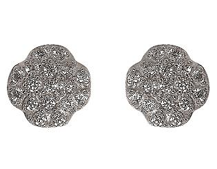 Золоті сережки з цирконієм куб. 01-17528373 фотографія