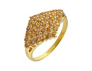 Золотое кольцо с фианитами 01-15714474 фотография