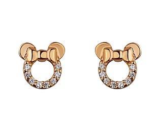 Золоті сережки з цирконієм куб. 01-17642574 фотографія