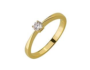 Золота каблучка з діамантом 01-17656474 фотографія