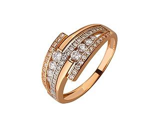 Золота каблучка з цирконієм куб. 01-17656574 фотографія