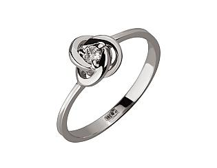 Золота каблучка з діамантом 01-17668674 фотографія