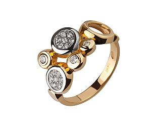 Золотое кольцо с фианитами 8к-264 фотография