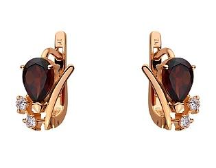 Золоті сережки з гранатами 01-17497175 фотографія