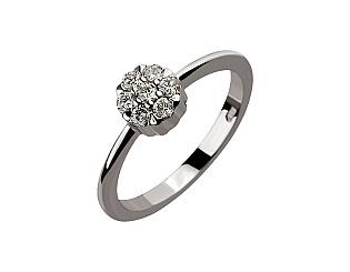 Золотое кольцо с бриллиантами 2б_к-055 фотография