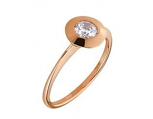 Золотое кольцо с цирконием куб. 1б_к-108 фотография