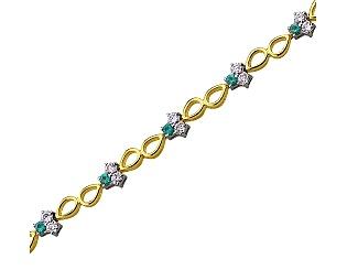 Золотий  браслет з діамантами 01-17351776 фотографія